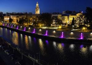 Iluminación mota de río